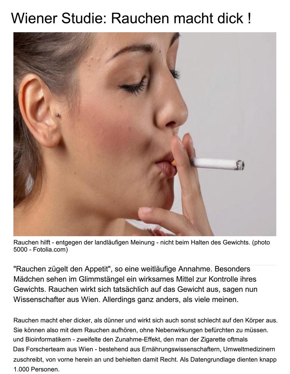 Rauchen aufhören: Zunehmen durch veränderte Darmflora